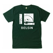 Delsin - Label Stamp, Bottle Green w/ White Print
