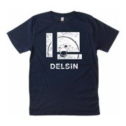 Delsin - Label Stamp, Denim Blue w/ White Print