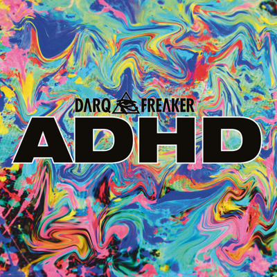 "ADHD EP (12"" + MP3 download code) blue marbled vinyl"