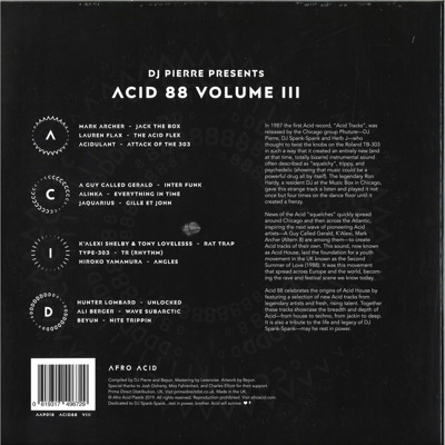 Acid 88 Volume 3 (white vinyl) Record Store Day 2019