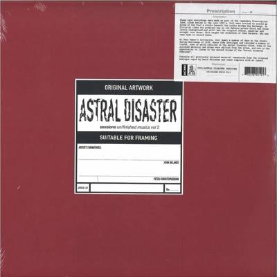 Astral Disaster Sessions Un/Finished Musics Vol. 2 (red vinyl)