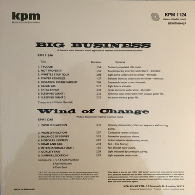 Big Business / Wind Of Change (180g)
