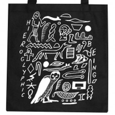 Hieroglyphic Being Tote Bag (black)
