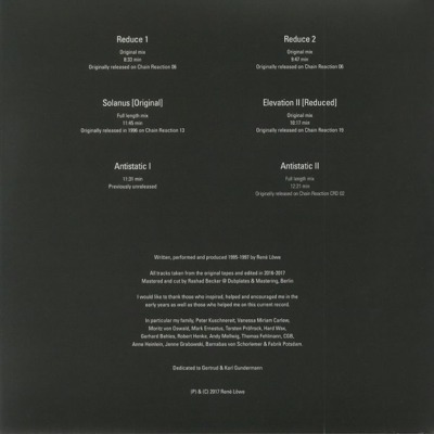 Reductions 1995-1997 (gatefold)
