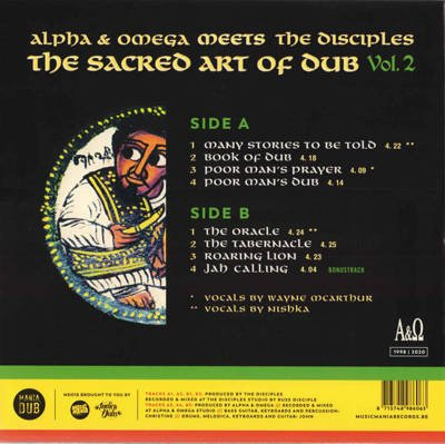 The Sacred Art Of Dub Vol. 2 (Record Store Day 2020) white vinyl