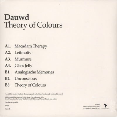 Theory Of Colours (180g)