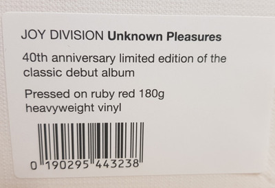 Unknown Pleasures (40th Anniversary Edition) ruby red vinyl