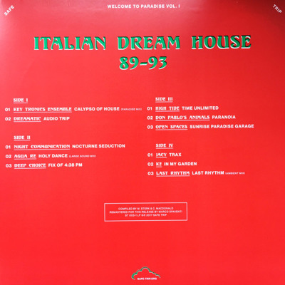 Welcome To Paradise Vol. I: Italian Dream House 1989-93